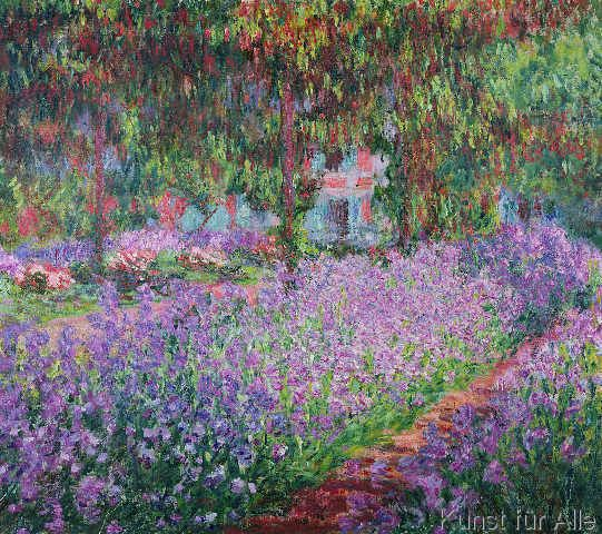Claude Monet Bluhende Iris In Monets Garten Kunstdruck Leinwandbild Claude Monet Art Monet Art Claude Monet Paintings