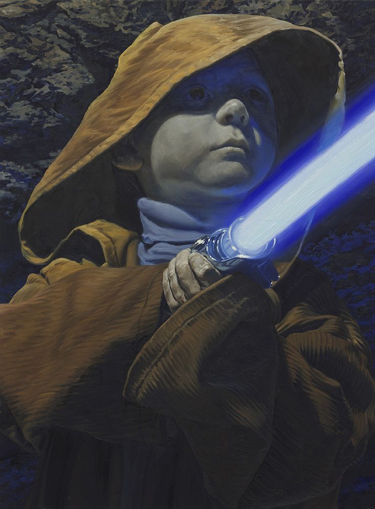 'Peter as Jedi Youngling'. From my Star Wars-inspired series SANDSTORM. 2013