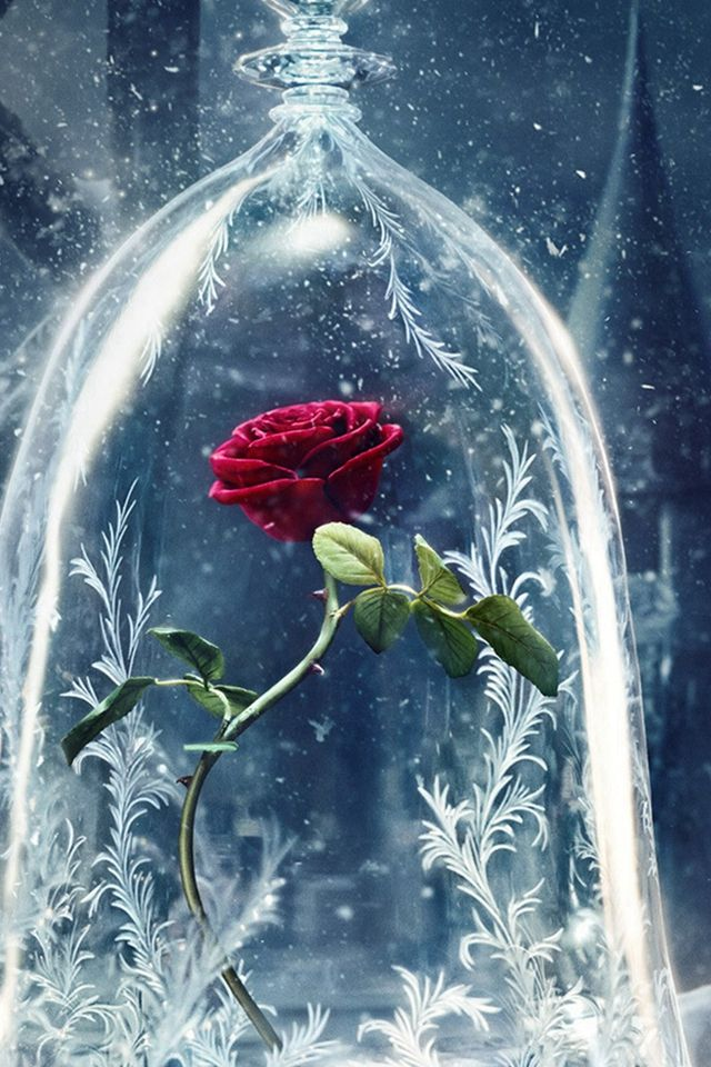 Beauty And The Beast Castle Icy Bell Rose Snowflake