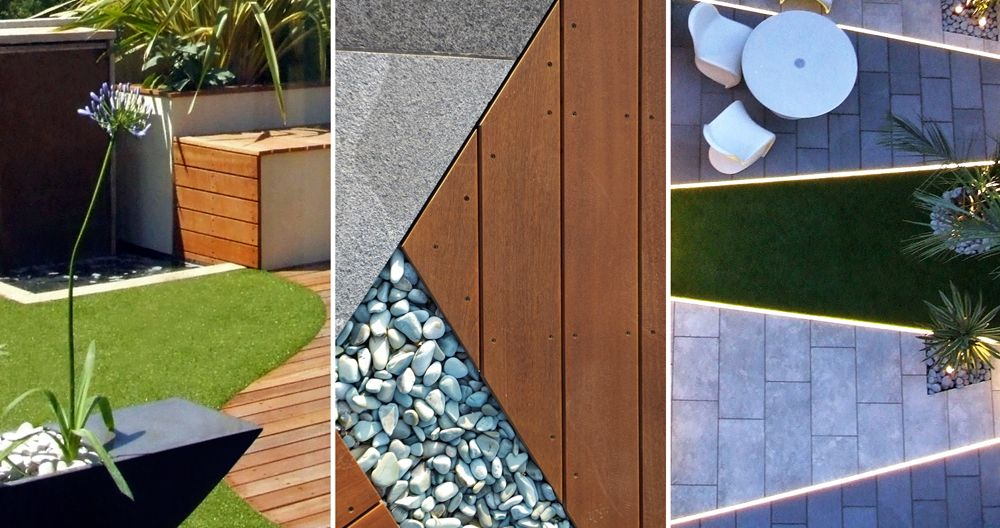 Modern #surfaces #paving #decking #grass for #landscape #garden - Terrace Design