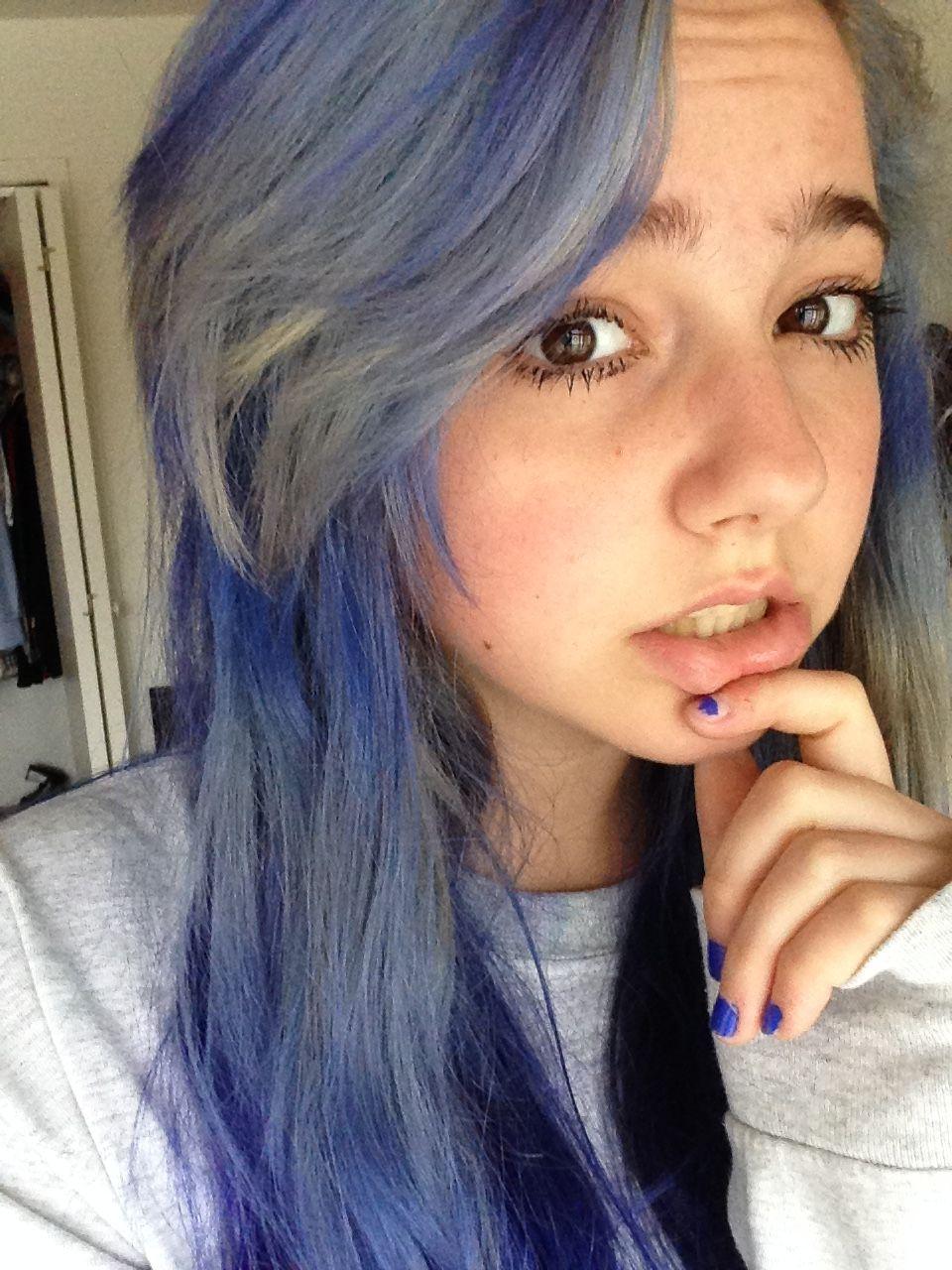 Faded Blue Envy Splat Youtube Sarah Noelle Miller Hair Styles Hair Color Hair Inspiration