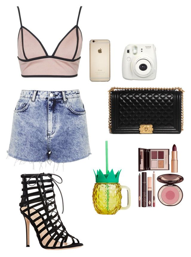 """Untitled #536"" by pizzaisbaebaeislife ❤ liked on Polyvore featuring Chanel, Rare London, Topshop, Gianvito Rossi and Charlotte Tilbury"
