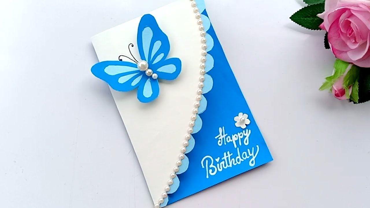 Beautiful Handmade Birthday Card Birthday Card Idea In 2021 Greeting Cards Handmade Birthday Handmade Birthday Cards Card Design Handmade