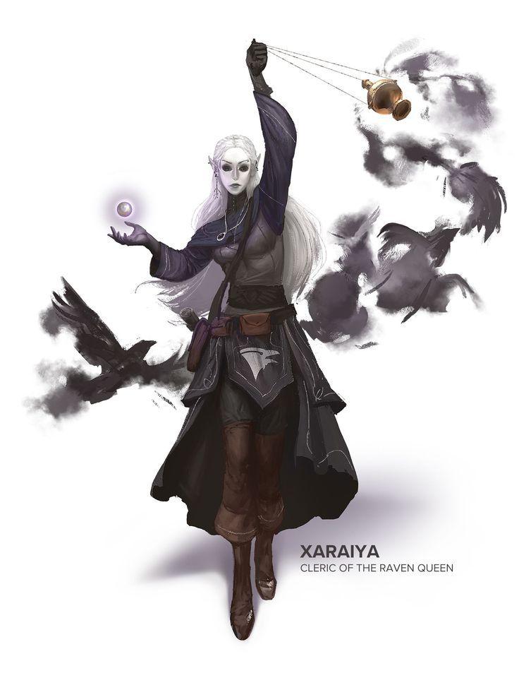 ArtStation - Xaraiya - Cleric of the Raven Queen, ... - #ArtStation #Cleric #fantasy #Queen #Raven #Xaraiya #odyssÉe