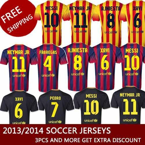 the latest b3a72 62536 Soccer jersey 13 14 thailand quality messi jersey neymar ...