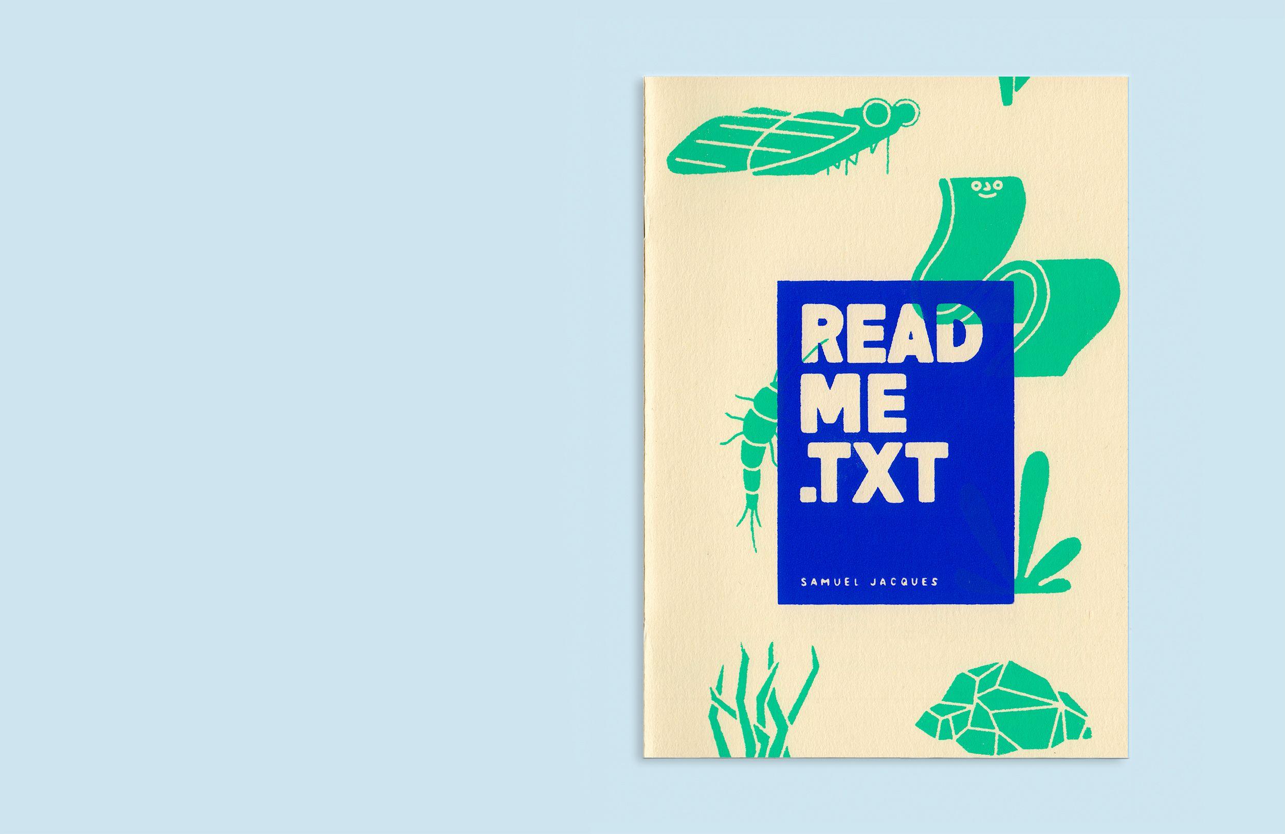 READMETXT on Behance livros bonito Pinterest Zine Behance