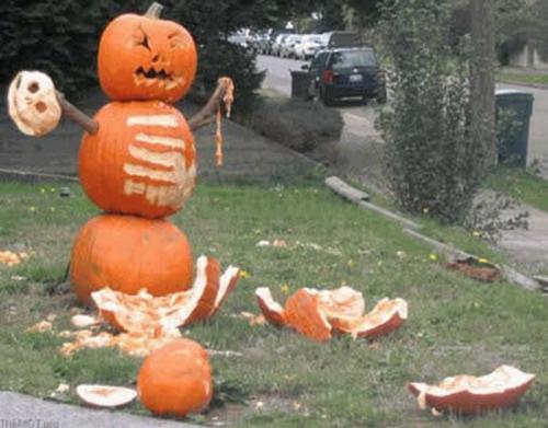 creative pumpkin carving fight club halloween grim gruesome murder death kill - Funny Halloween Pumpkin Carvings