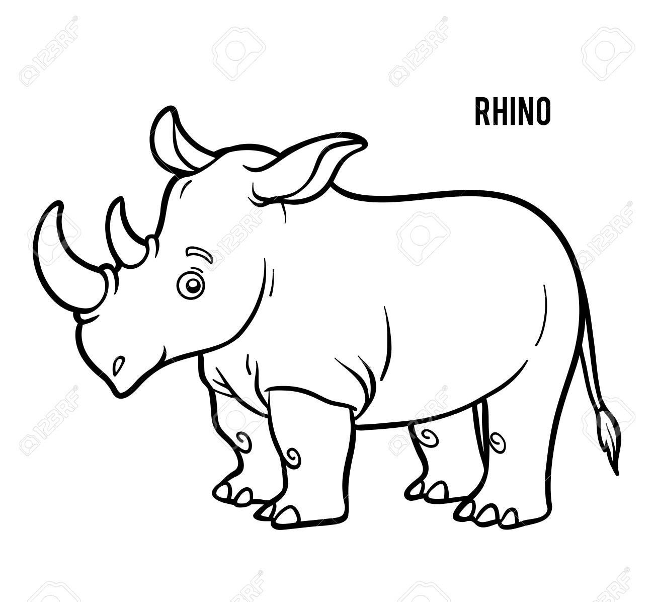 Coloring Book For Children Rhino Sponsored Book Coloring Rhino Children Coloring Books Technology Logo Logo Design