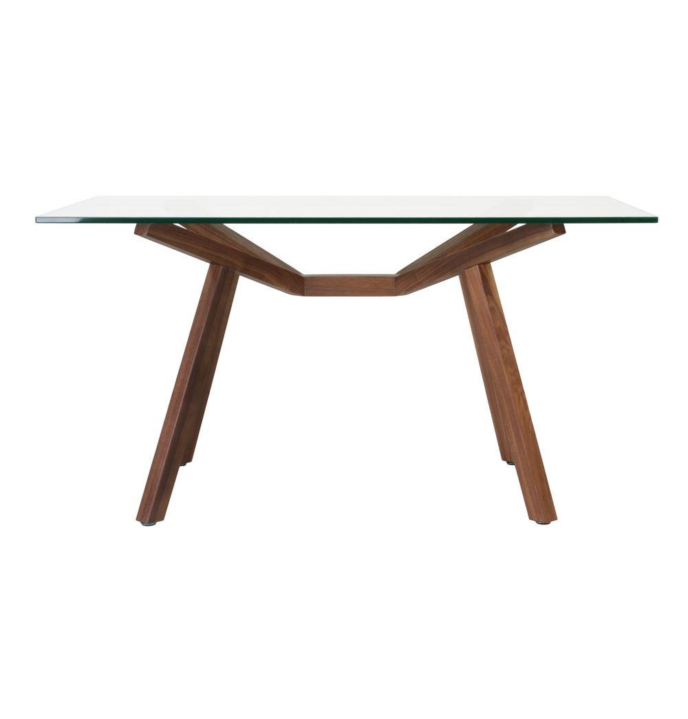 Original Design Sean Dix Forte Dining Table Glass Small