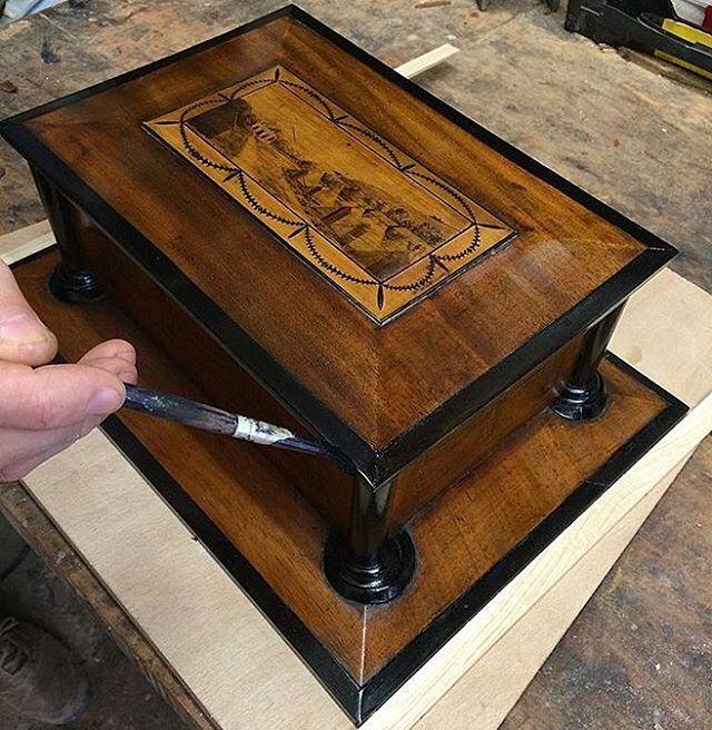 #woodwork #antique #furniture #restoration #woodworking #london #homedecor  #craft #londonrestorers - Reebonising Mouldings On #Edwardian Trinket Box #woodwork #antique