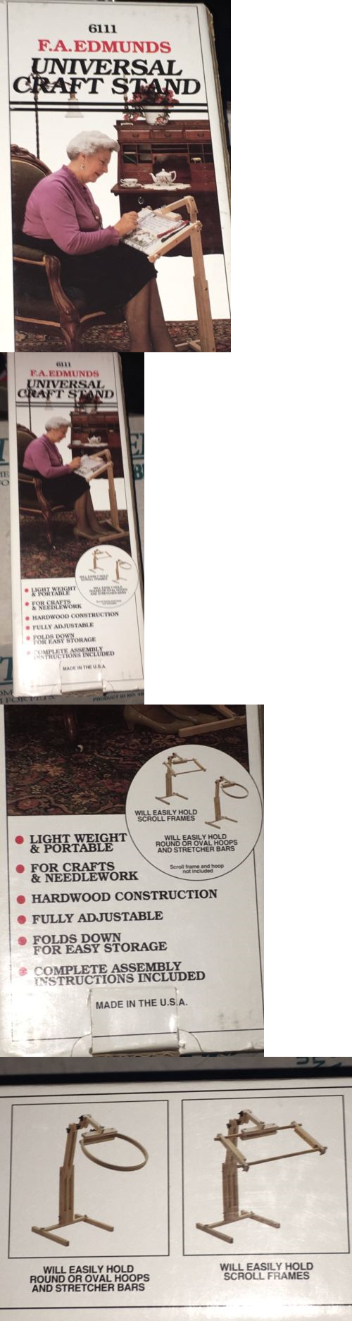Hand Embroidery Hoops and Frames 160721: New Fa Edmunds Universal ...