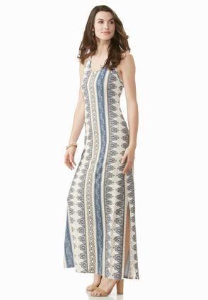 02dc91c493e Cato Fashions Mixed Stripe Crochet Back Maxi Dress  CatoFashions ...