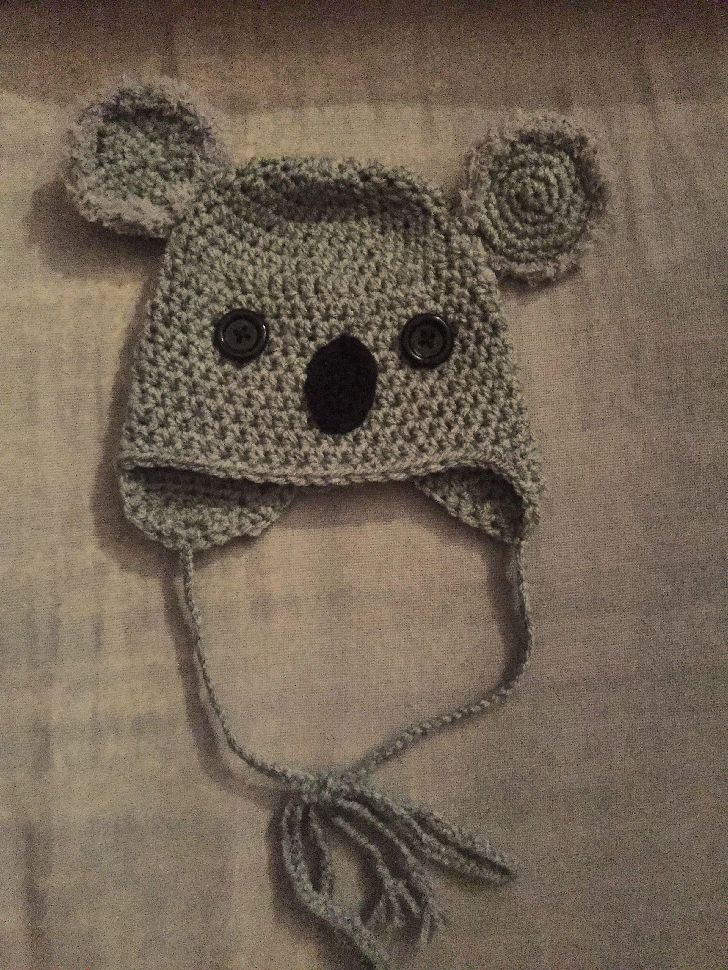 koala häkeln crochet mütze Baby Principessacrocheta | !Meine Werke ...