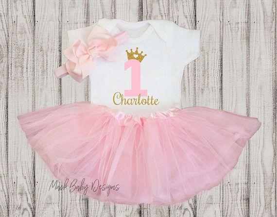 Personalisierte 1 Geburtstag Madchen Outfit Baby Girl 1
