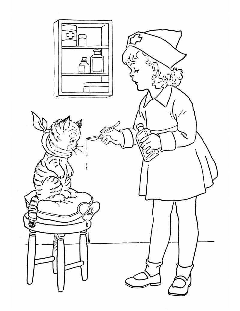 Lil nurse coloring pinterest filing