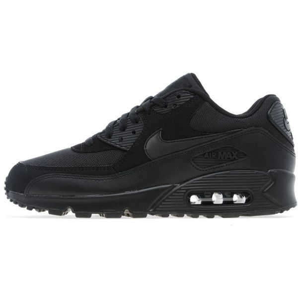 Nike Air Max 90 ($250) ❤ liked on Polyvore featuring shoes, athletic shoes, sapatos, nike, black shoes, nike shoes, woven shoes, kohl shoes and cushioned shoes