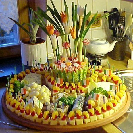 Fingerfood vegetarisch. Große Käseplatte für die nächste Sommerparty, #fingerfoodappetizers