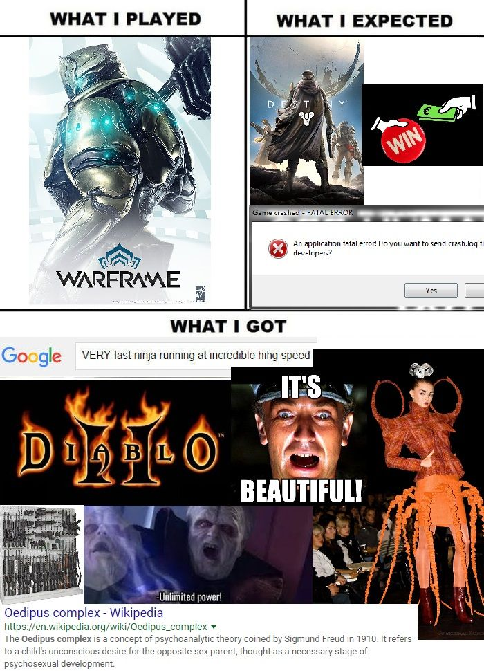 Warframe Not What I Expected Http Ift Tt 2hlp7bw Video Games Funny Funny Games Gaming Memes