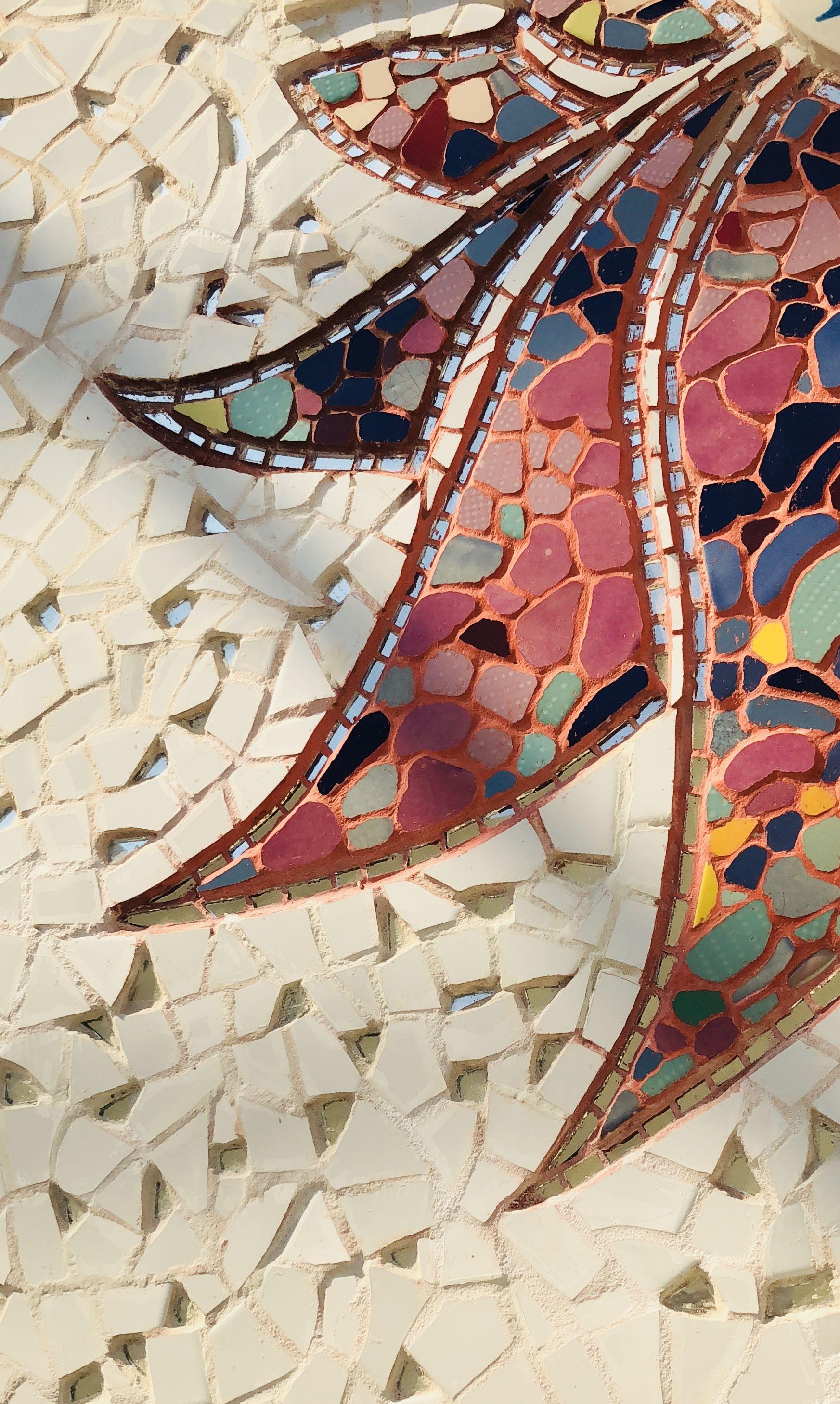 Lotus Flower Mosaic Atelier Contemporneo By Carla Peach Carla