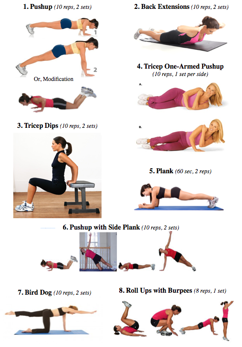 Upper and lower body workout no equipment needed health