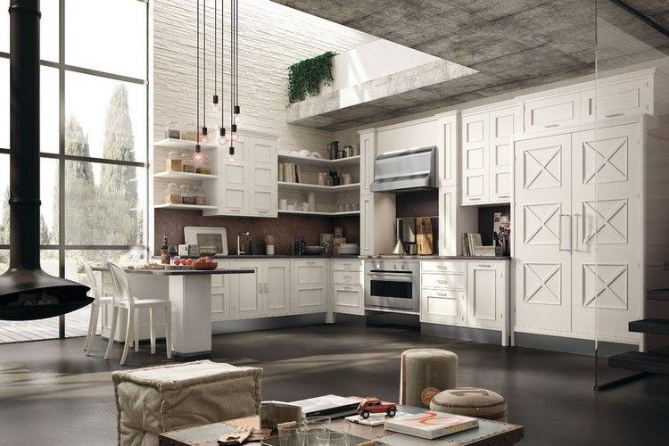 Moderne Küche im Landhaus-Look \u2013 Montserrat in matt weiß Modern
