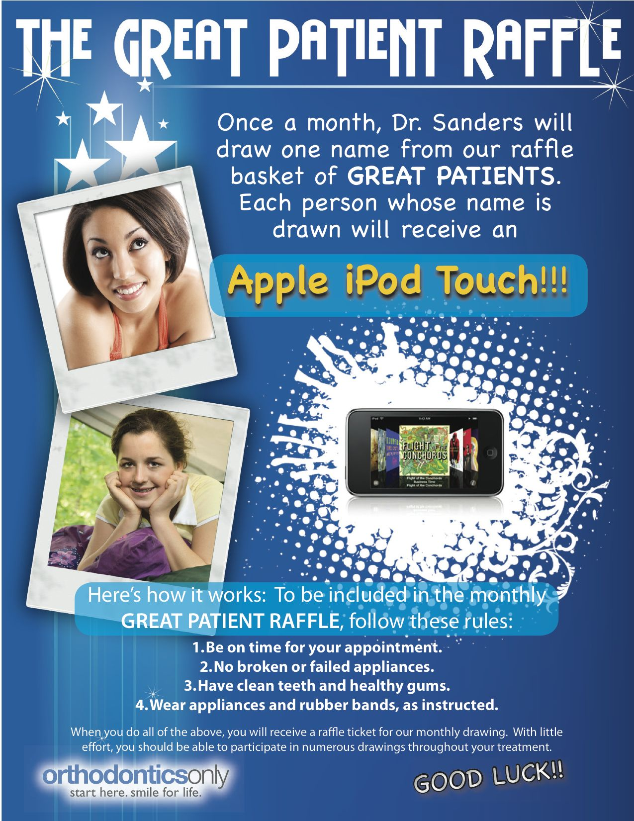 Contests For Orthodontic Offices Great Patient Contest