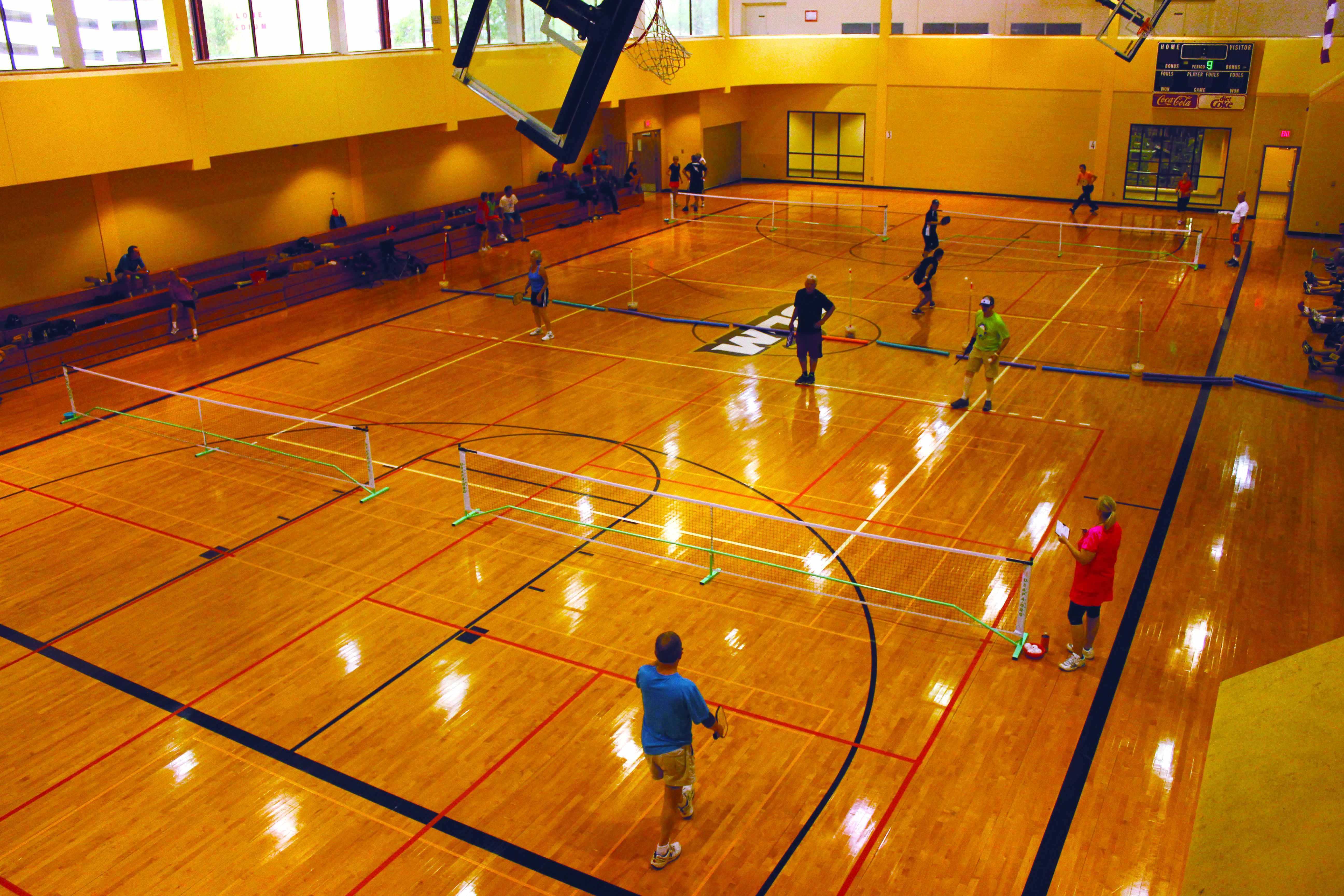 Ulm Activity Center The Multi Use Sports Facility Features Six Racquetball Five Basketball And Eight Volleyball Courts The Sports Racquetball Pickleball