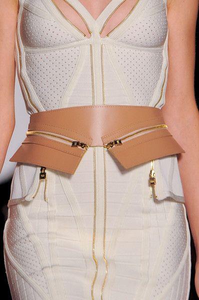#HervéLéger by Max Azria Spring 2014 #FashionDetails