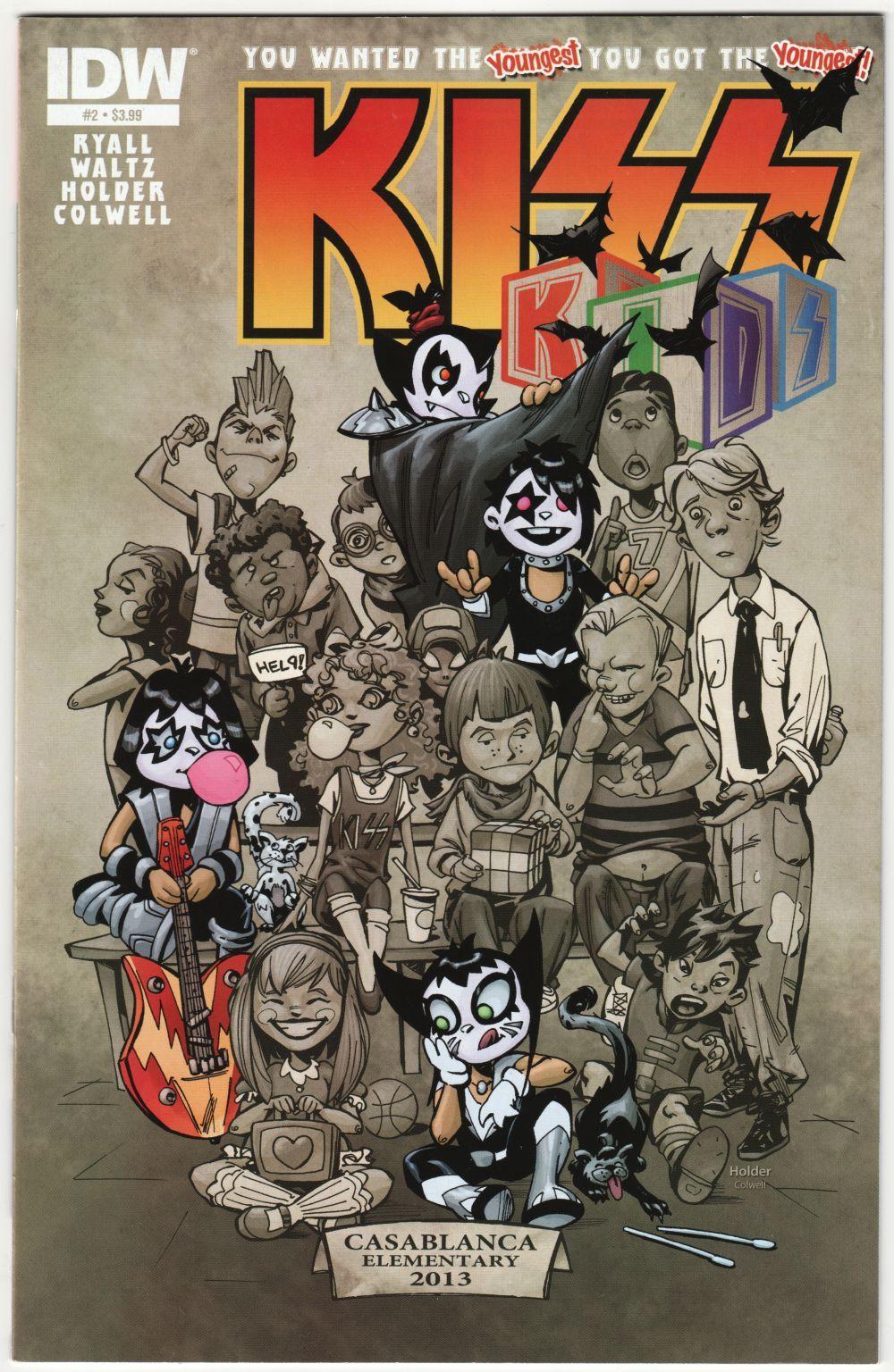 Kiss Kids 2 Cvr A Idw 2013 Vf Kiss Rock Bands Comics Kiss Art