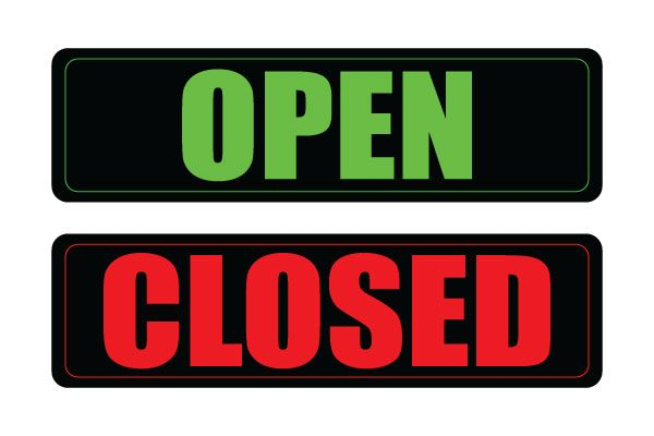 Printable Open and Close Sign in Adobe PDF Free Download Free - free for sale signs for cars