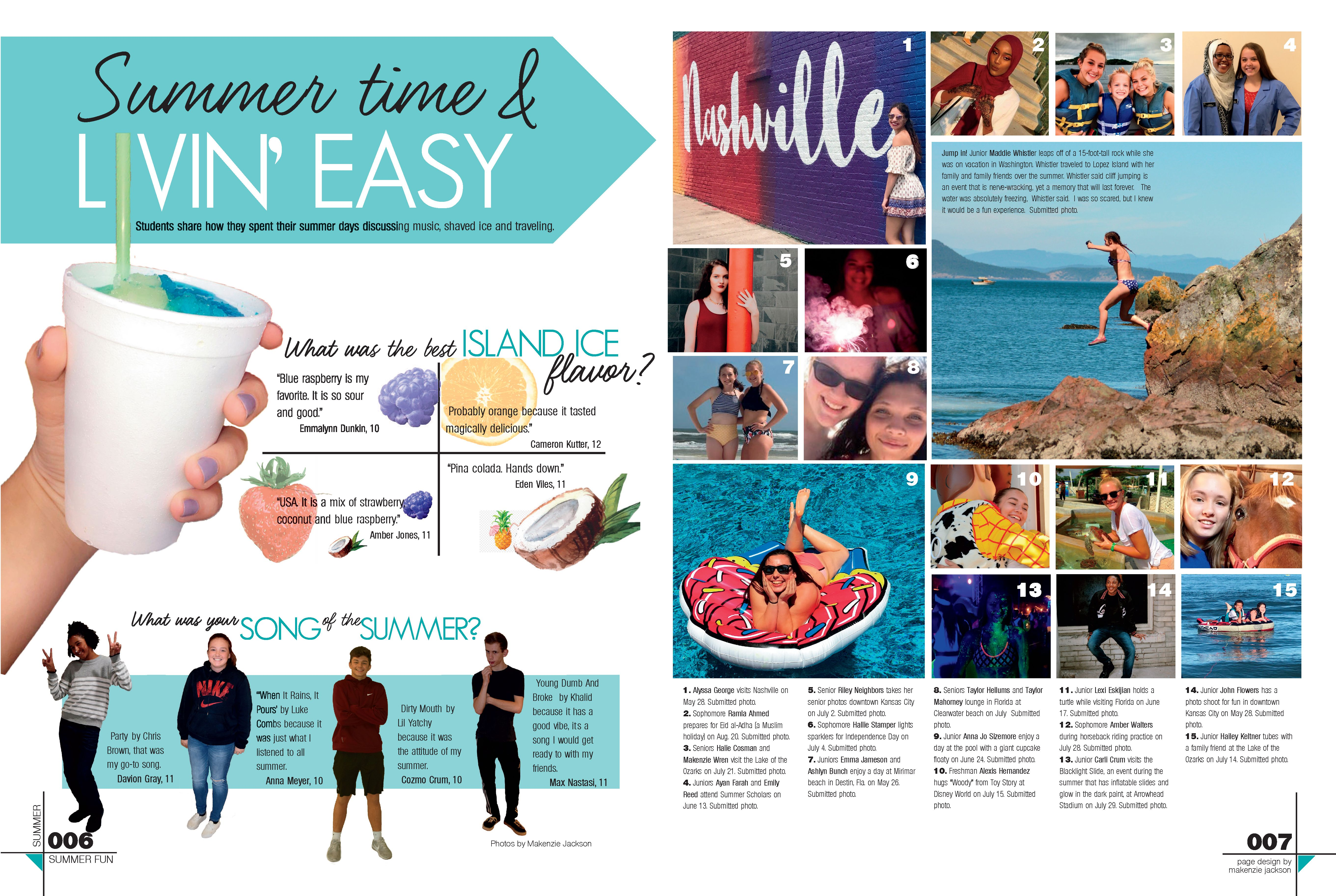 Winnetonka High School Kansas City Mo Summer Coverage With Packages On Favorite Ices Songs And Travel Yearbook Layouts Yearbook Design Yearbook Pages