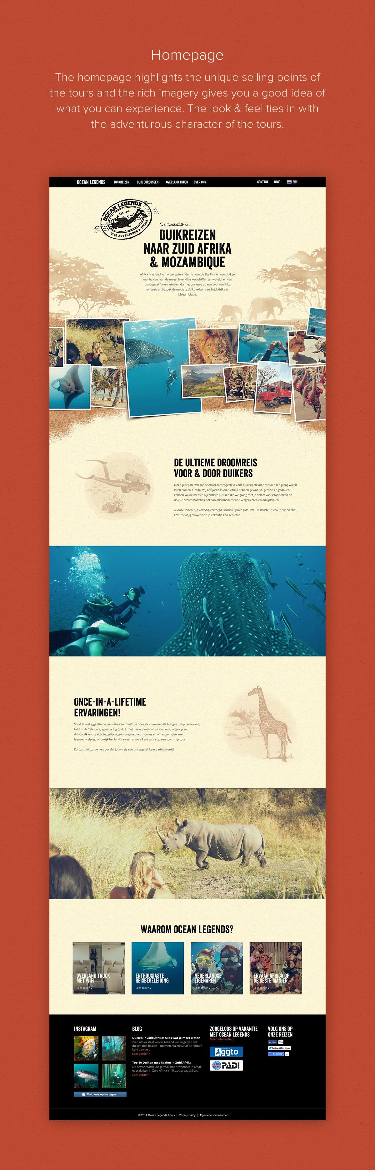Ocean Legends Tours: Adventure Travel Website