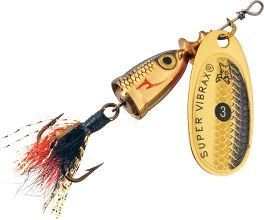 3 Flying C Spinners Copper Blades Single//Treble Hooks Salmon Trout Bass Lures