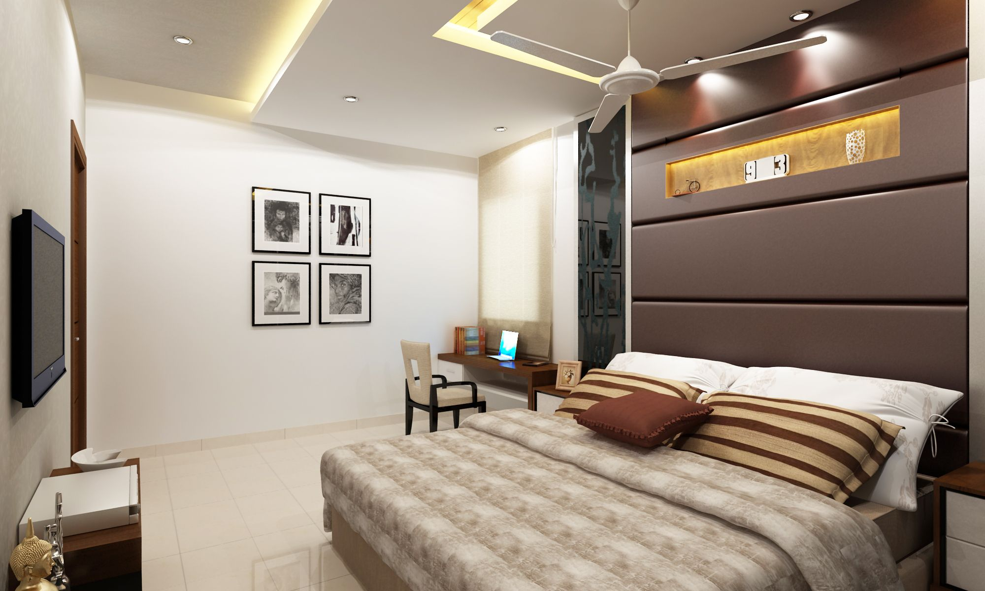 #BedRoomDesign Nice BedRoom Elevation Design If You Need Any Related Services  Please Contact : +91-040-64544555, +917995113333  Email: info@wallsasia.com www.wallsasia.com