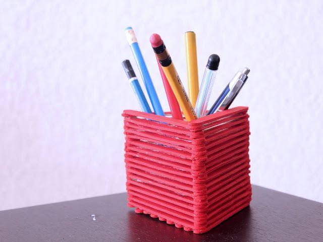 Cara Membuat Tempat Pensil Dari Stik Es Krim Tempat Pensil Es