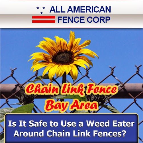 Chain Link Fence Bay Area - Should You Use a Weed Eater Near Chain Link Fences? #fence_contractor_bay_area #fence_company_Bay_Area #fence_contractors_Bay_Area