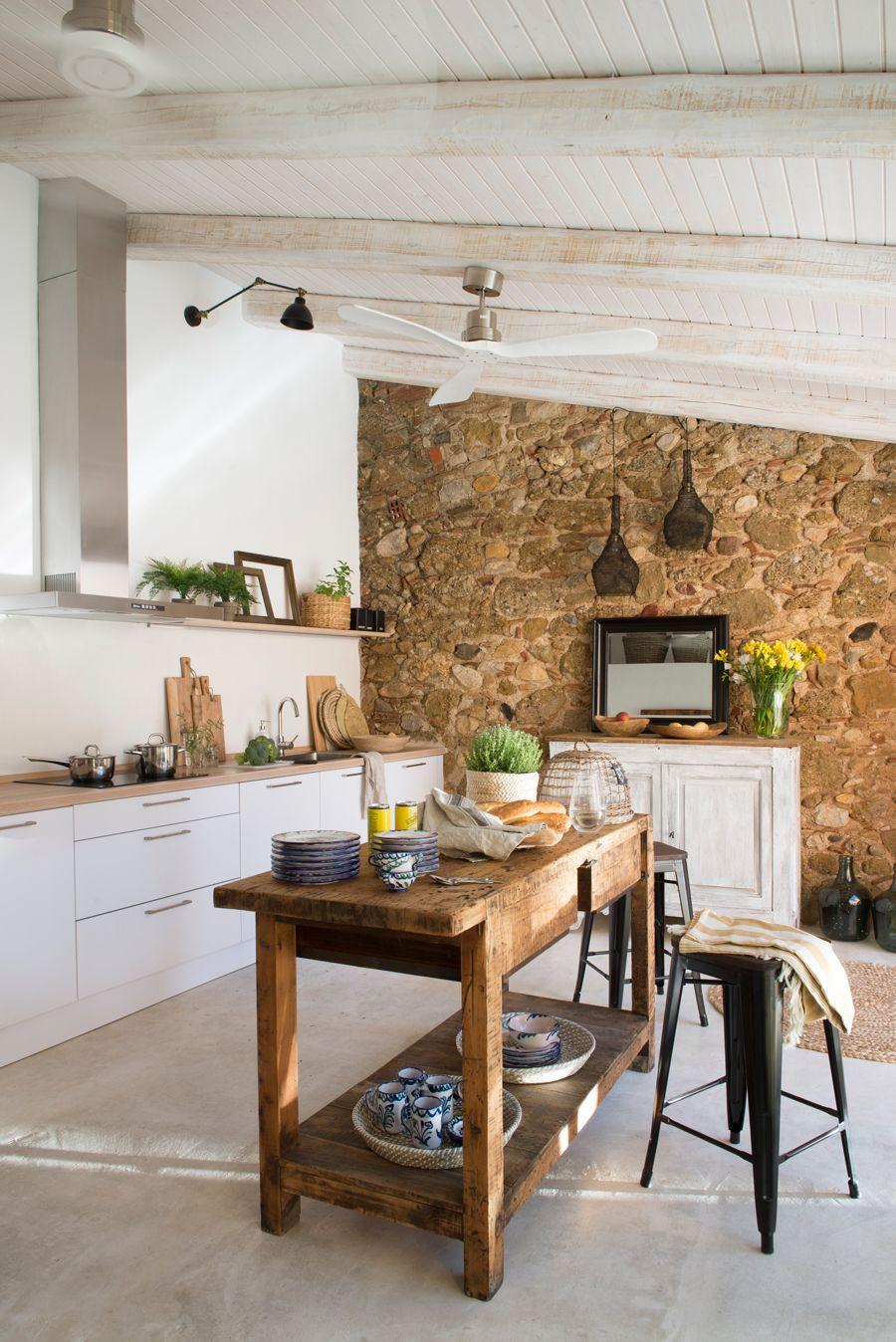 Atractivo Isla De Cocina Estrecha Galería - Ideas Del Gabinete de ...