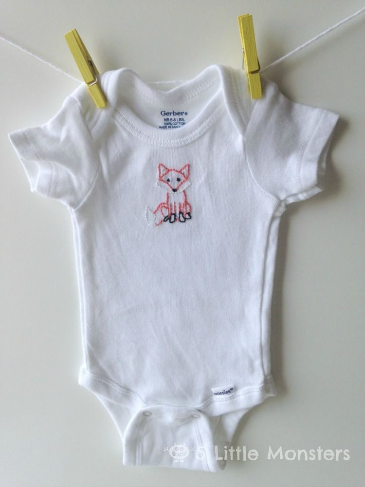 Handmade Baby Gift Embroidered Onesies Pinterest Onesies
