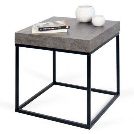 Petra Coffee Table And Side Table Concrete Aspect And Steel