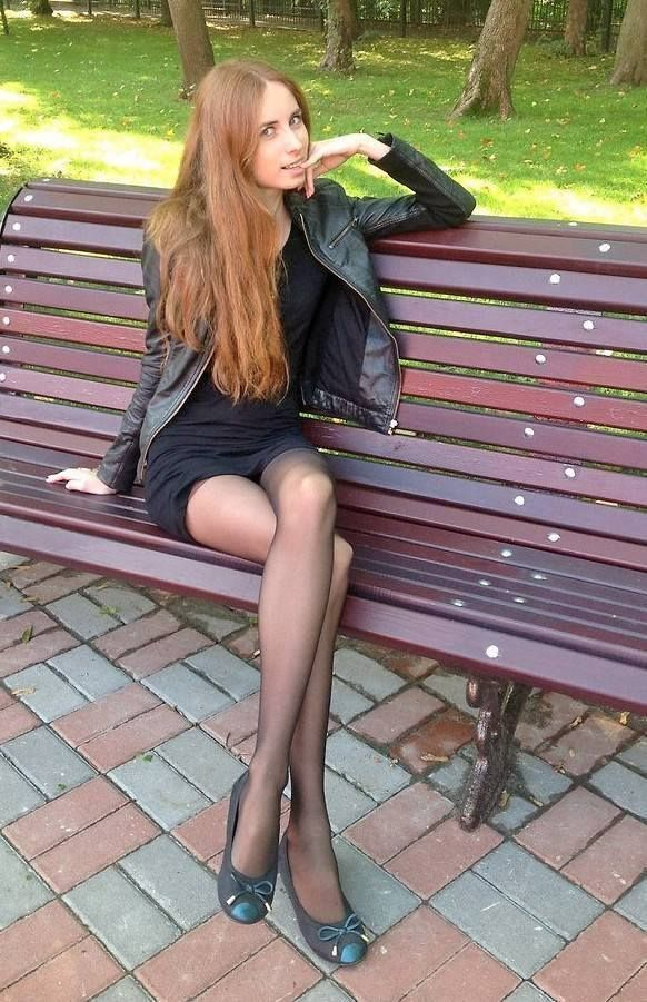 Brunette Sheer Pantyhose Teen No 98