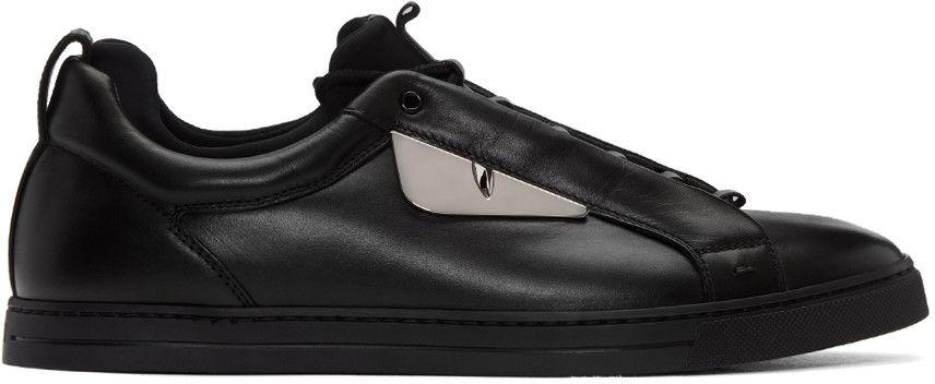 dd190cf53e FENDI Black Monster Sneakers. #fendi #shoes #sneakers | Fendi Men ...