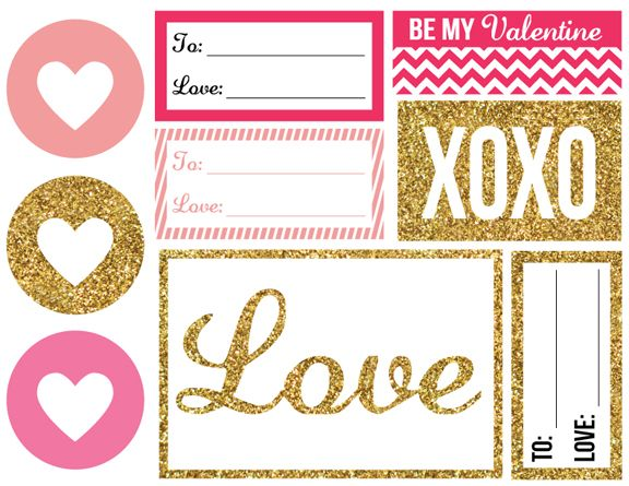 Creative Soul Spectrum: Printable Valentine Gift Tags
