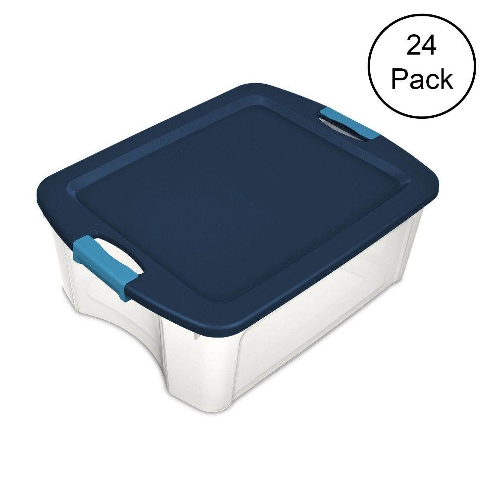 Single Sterilite 12 Gallon Latch And Carry Storage Tote Box Container 24 Pack Clear Tote Storage Storage Tubs Storage Bins