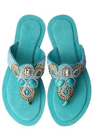 """Turquoise sandal from """"Kai Lani"""""""