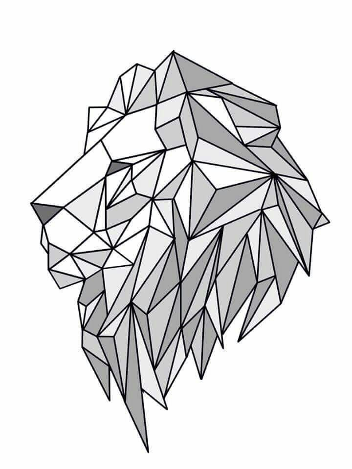 lion geometric create by june pur another pinterest lions tattoo and drawings. Black Bedroom Furniture Sets. Home Design Ideas
