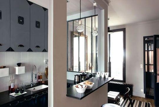 cuisine semi ouverte sur le salon am nagement conception bonnes id es c t. Black Bedroom Furniture Sets. Home Design Ideas