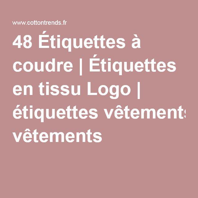 48 tiquettes coudre tiquettes en tissu logo. Black Bedroom Furniture Sets. Home Design Ideas