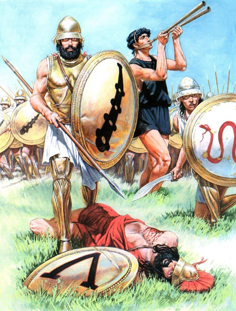 9a180a133 A Theban standing over a defeated Spartan, during the Battle of Mantinea,  362 BC (Andrey Karashchuk).