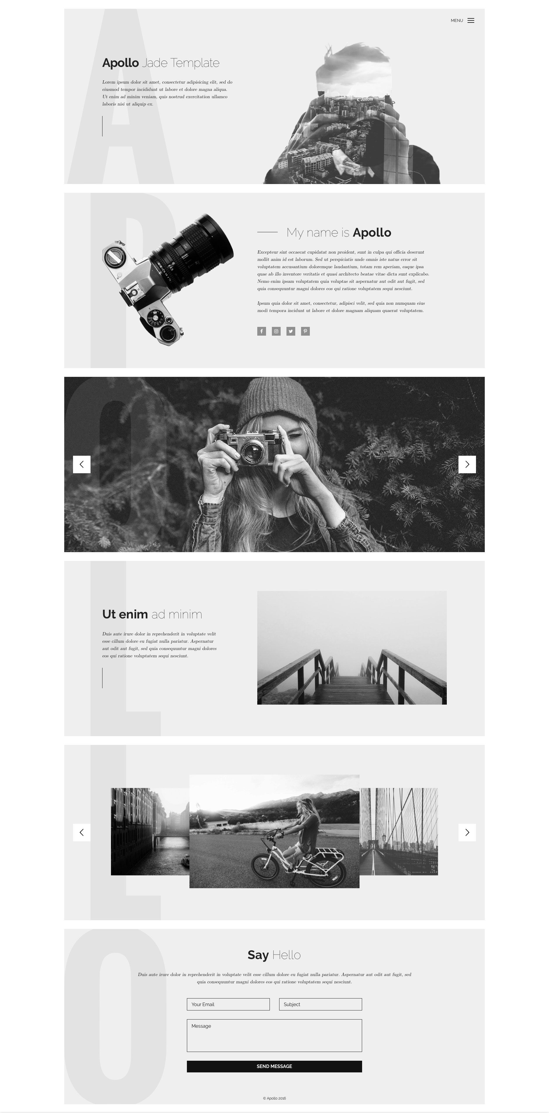 Apollo is a minimal, responsive HTML5 website template, which is the ...