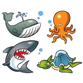 Dibujos de animales marinos  plantillas  Pinterest  Dibujos de